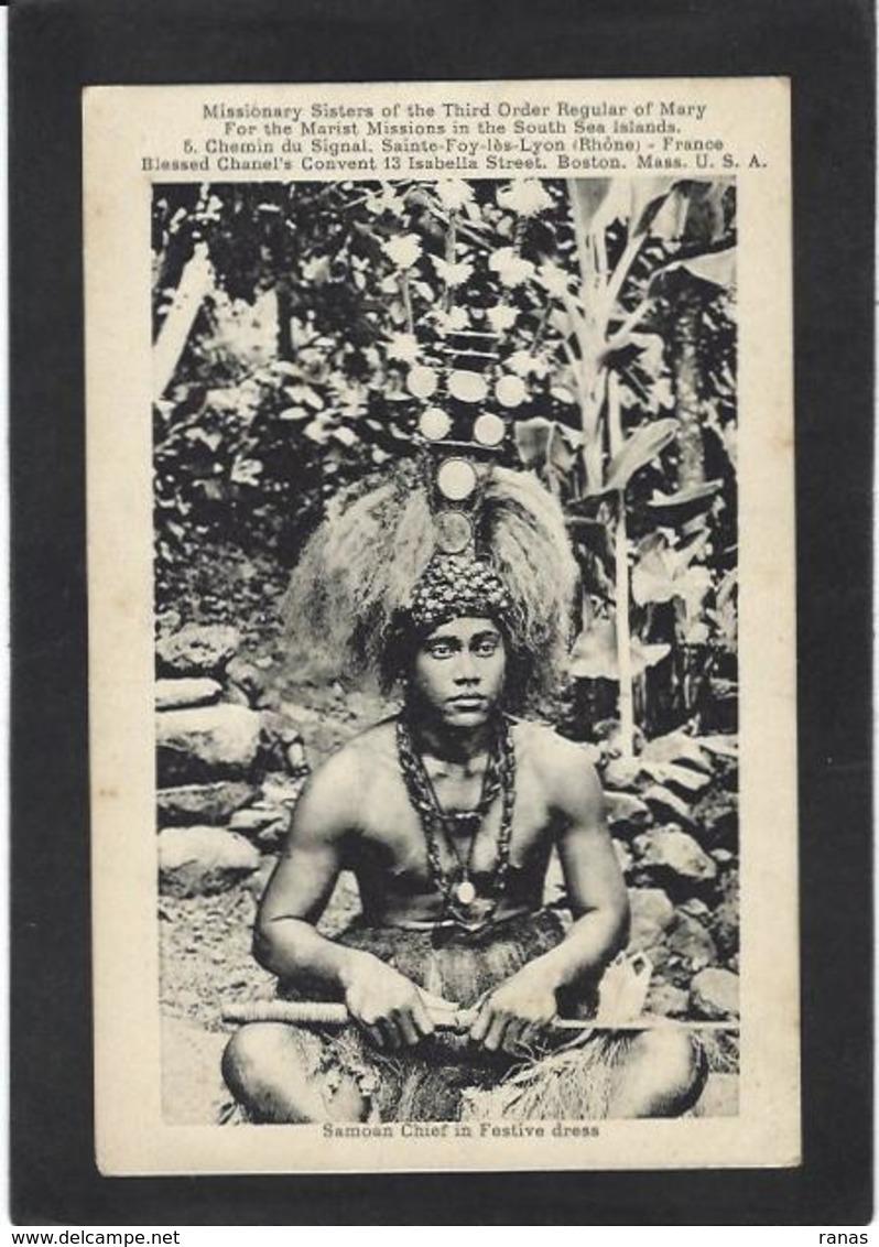 CPA Samoa Océanie Chef Samoan Non Circulé - Samoa
