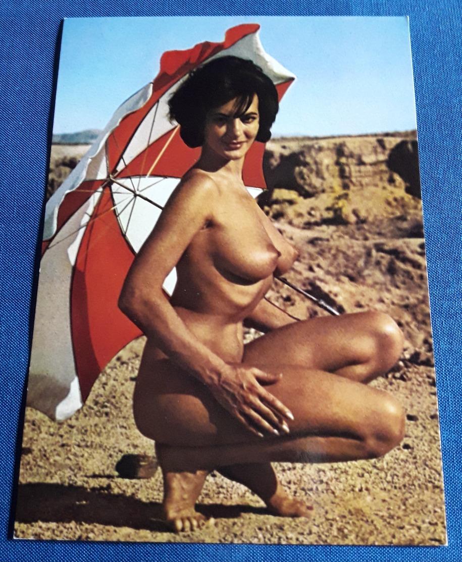Vintage Nude Beach Pin-Up Girl Postcard - Sexy Young Woman Nackt-Model Jeune Femme Nu - Alte Erotikpostkarte (ake48) - Fine Nudes (adults < 1960)