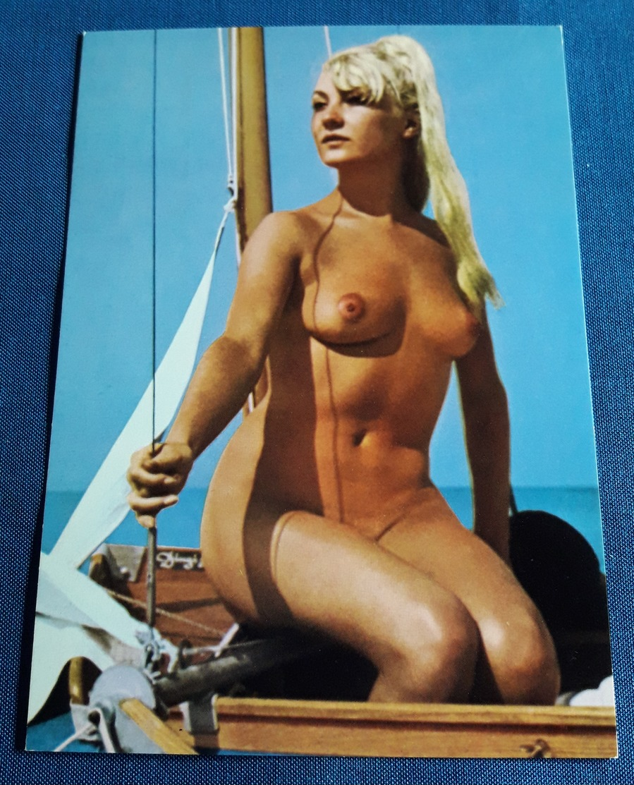 Vintage Nude Beach Pin-Up Girl Postcard - Sexy Young Woman Nackt-Model Jeune Femme Nu - Alte Erotikpostkarte (ake47) - Fine Nudes (adults < 1960)