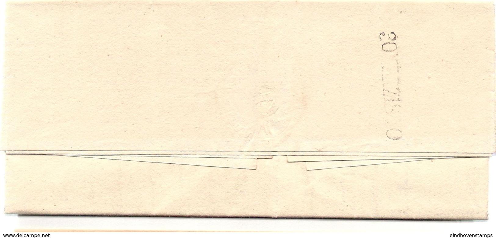 Germany Prussia - Schmalkalden 1840 2-Zeil Stempel, Vollständiger Aktenbrief Nach Castel - Germania