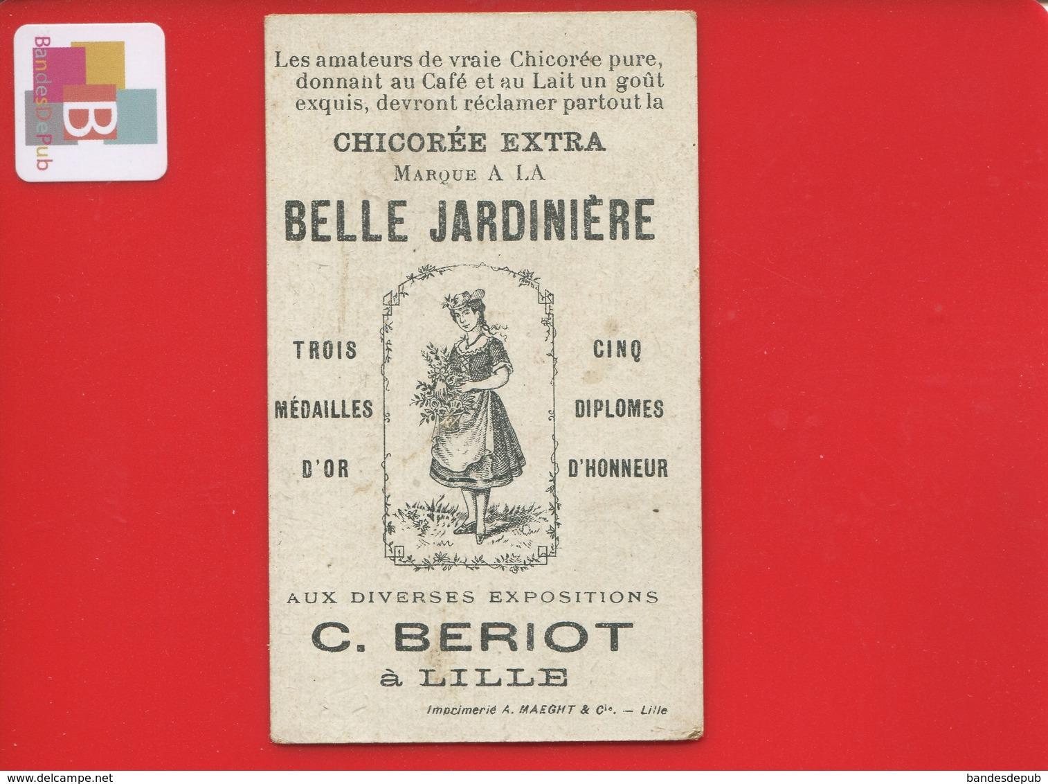 Lille BERIOT Chromo Moyen Transport Tramway Electrique Flotteur Souterrain Paris Invalides Ecole Militaire Pont Alma - Trade Cards