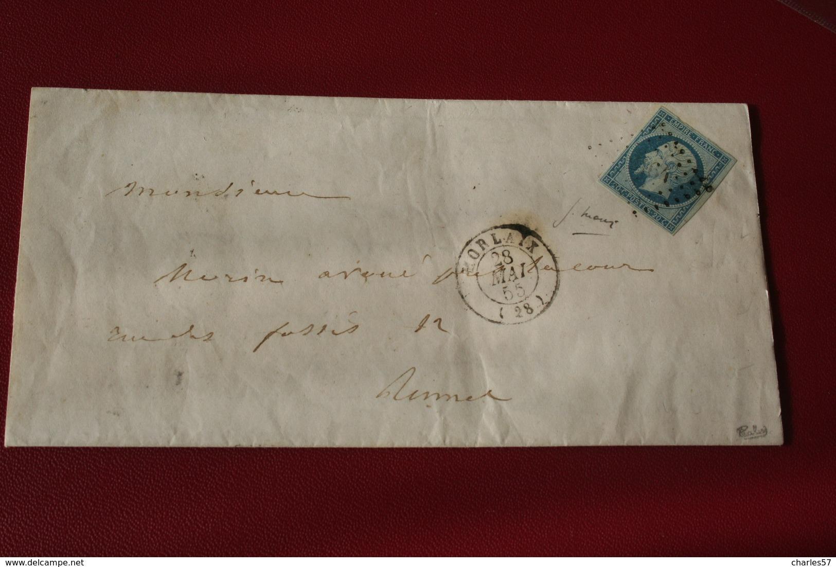 NAPOLEON III N°14d (bleu/vert) Signé Calves .superbe Lettre + VARIETE Sur Le 1er E à Empire (la Jambe Du Bas Qui Relève - 1853-1860 Napoleon III