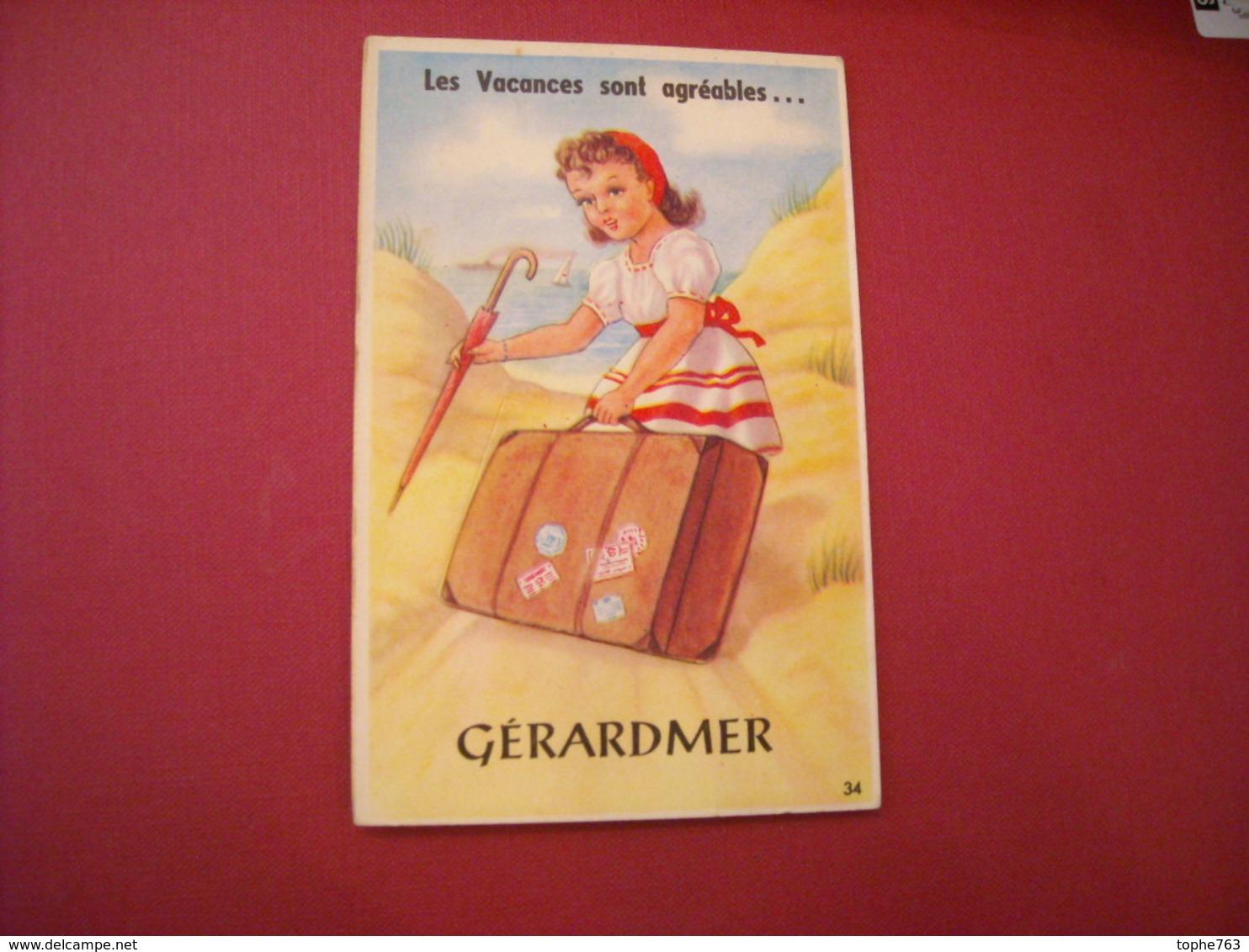 Gerardmer Les Vacances Sont Agréables - Carte à Système - Gerardmer