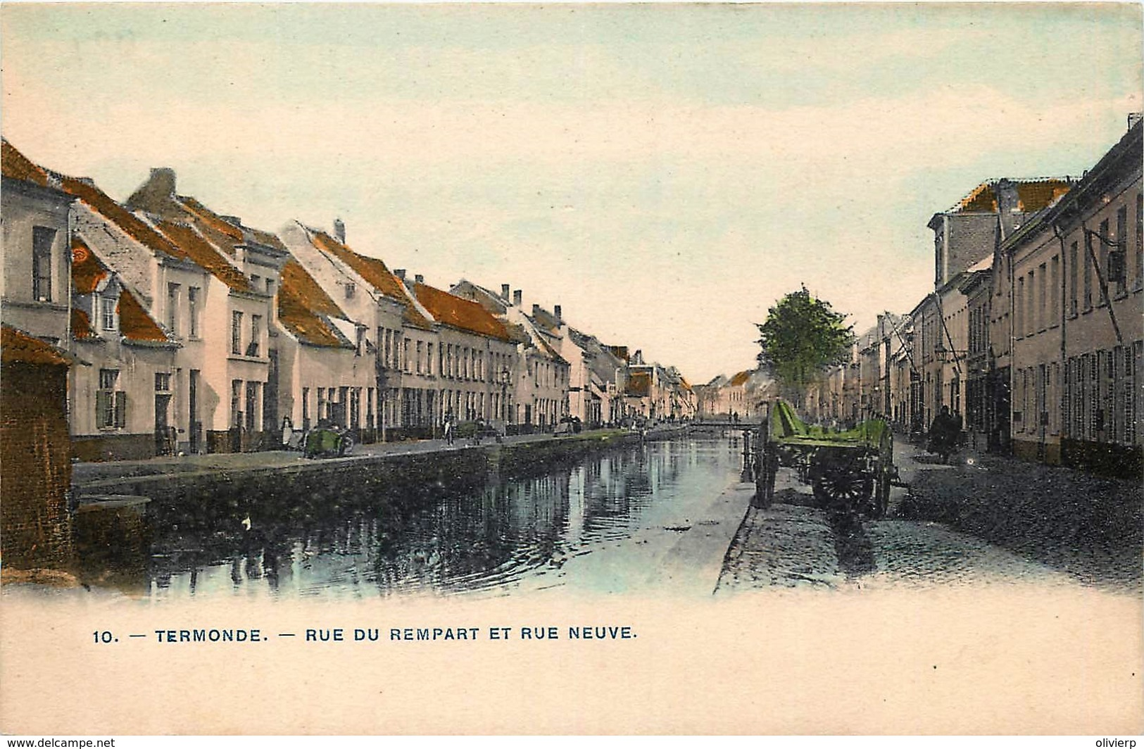 Belgique - Dendermonde - Termonde - Rue Du Rempart Et Rue Neuve - Dendermonde