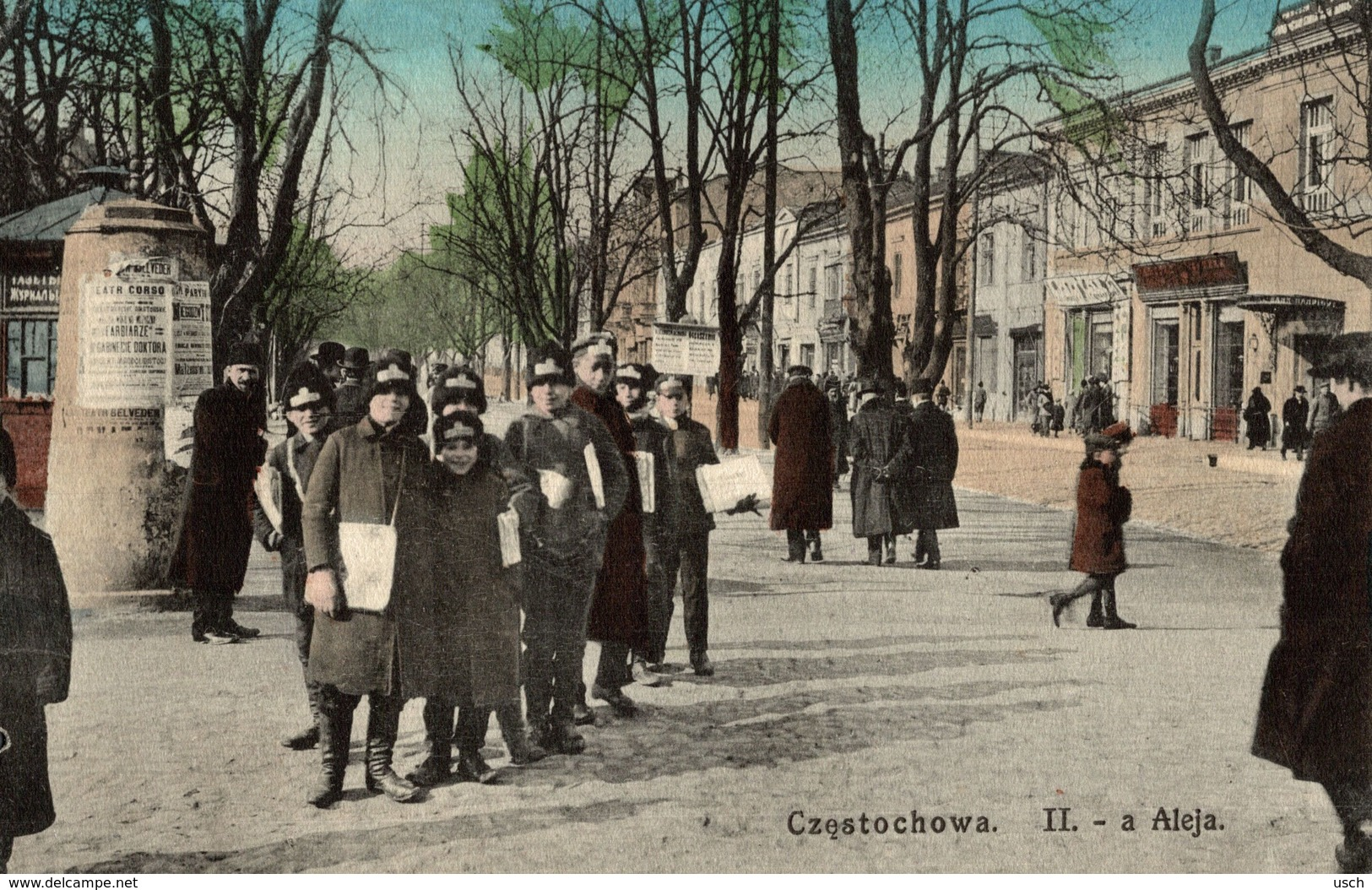 POLSKA - POLAND - CZOSTOCHOWA, II.-a Aleja, Well Animated - 1915 - Polen