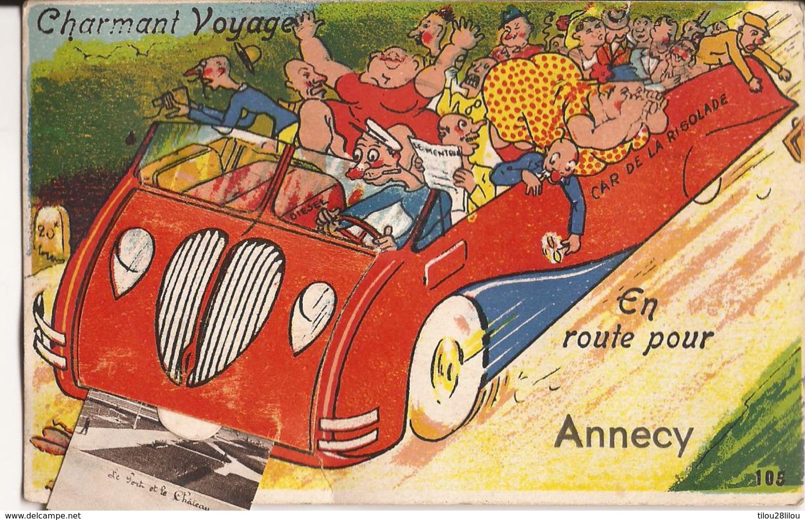 CPA FANTAISIE SYSTEME ANNECY BON ETAT - Annecy
