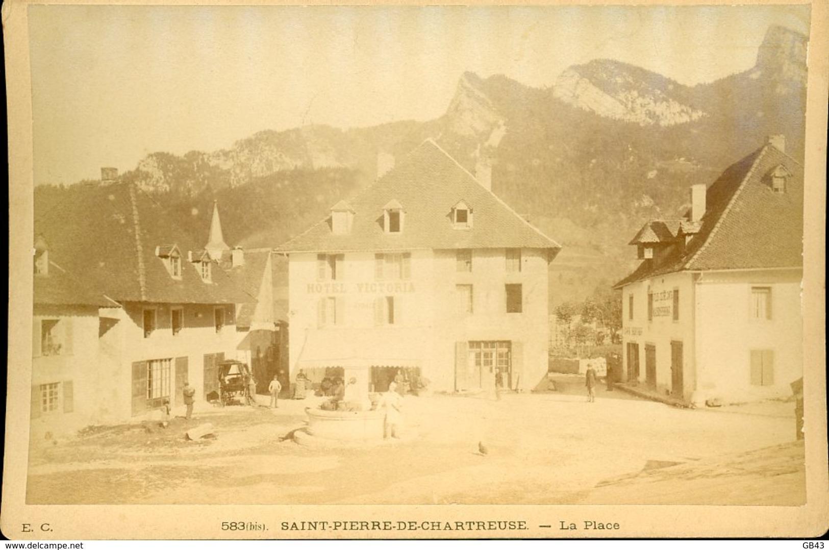 E.C.  St PIERRE DE CHARTREUSE La Place - Alte (vor 1900)