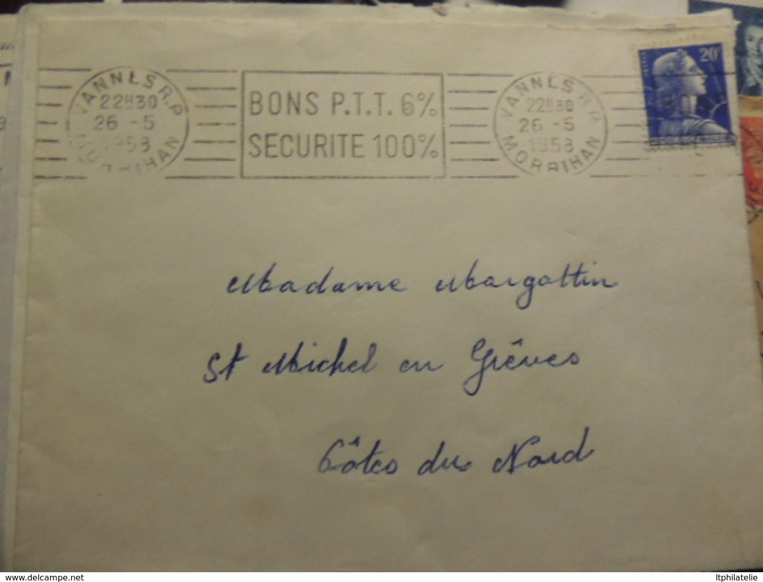 AFFAIRE ENVIRON  60 LETTRES    MARIANNES BECQUET  DE CHEFFER  DECARIS  DIVERS - Marcophilie (Lettres)