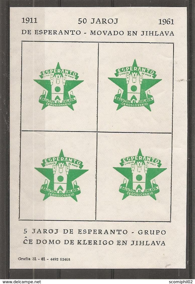 Esperanto ( BF Privé XXX -MNh- De Tchécoslovaquie De 1961 à Voir) - Esperanto