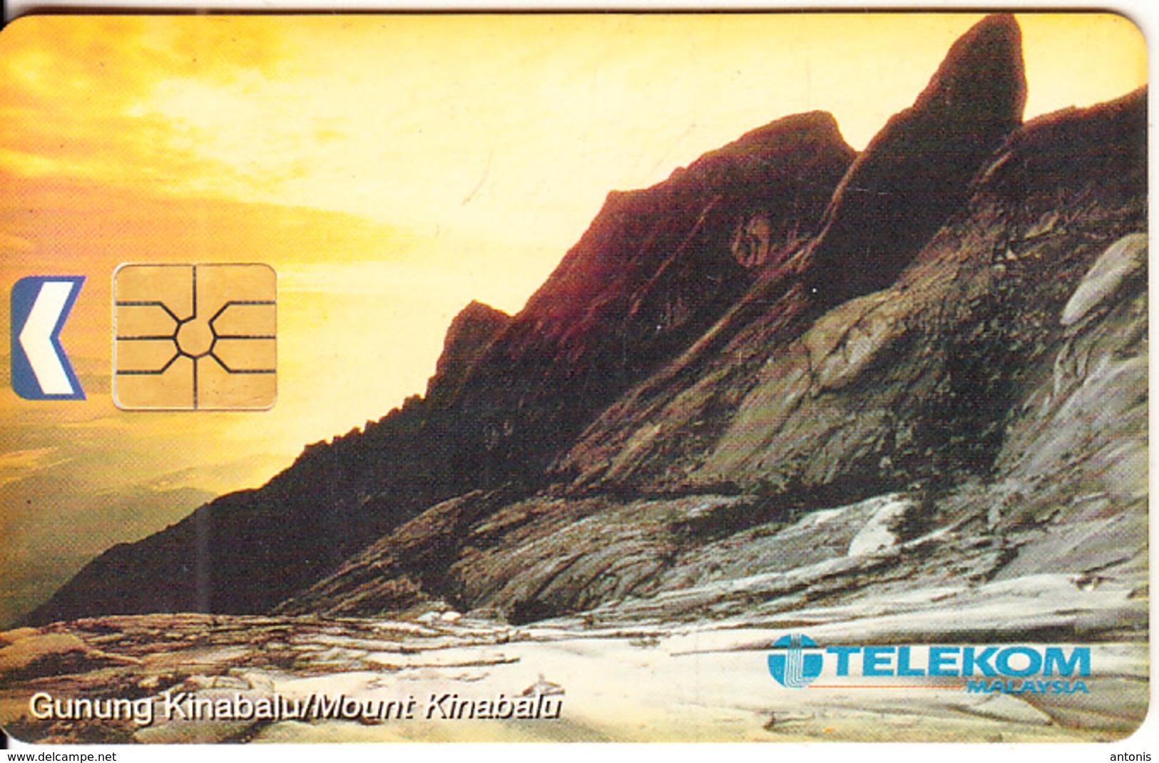 MALAYSIA(chip) - Mount Kinabalu, Telecom Malaysia Telecard RM20, Chip GEM1.1, Used - Mountains