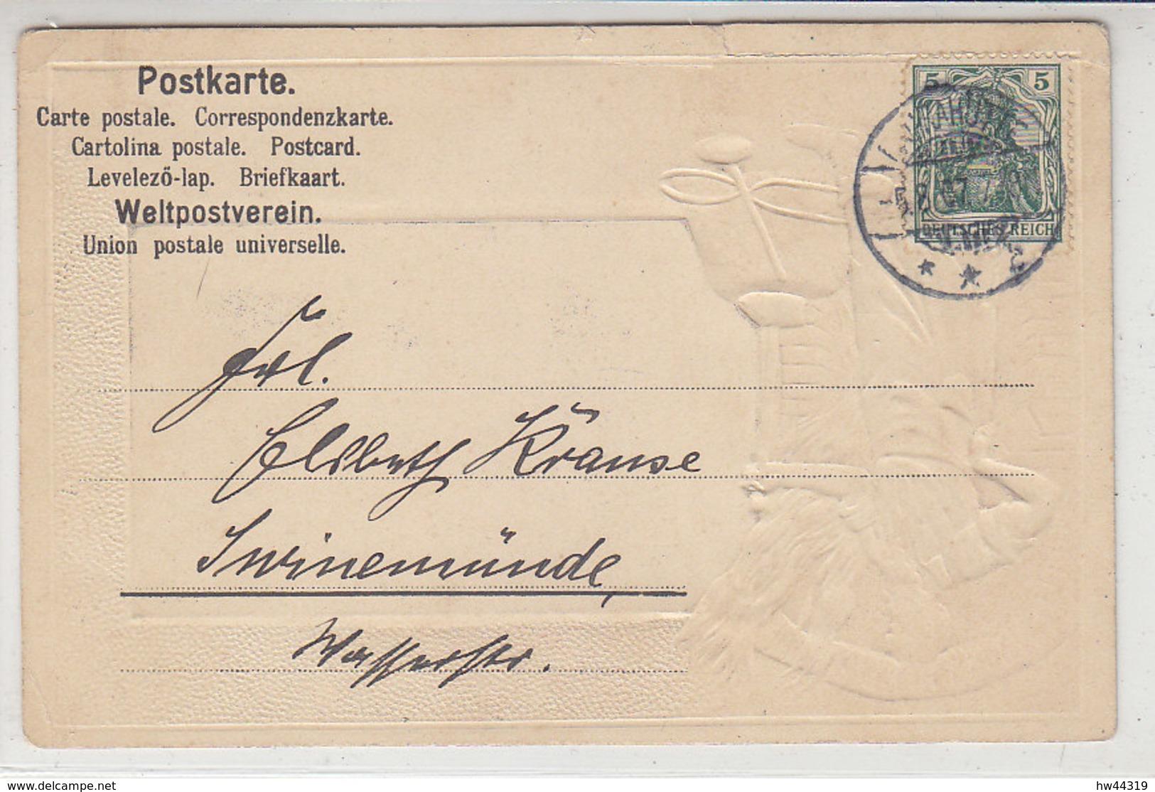Gruss Aus Laurahütte - 1907 Vorderseite Bemalt - Schlesien