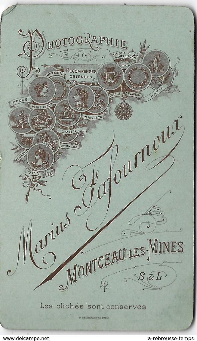 CDV Vers 1894-officier Médaillé Grenade Sur Col-gendarme? Photo Fafournoux à Montceau Les Mines - Guerre, Militaire