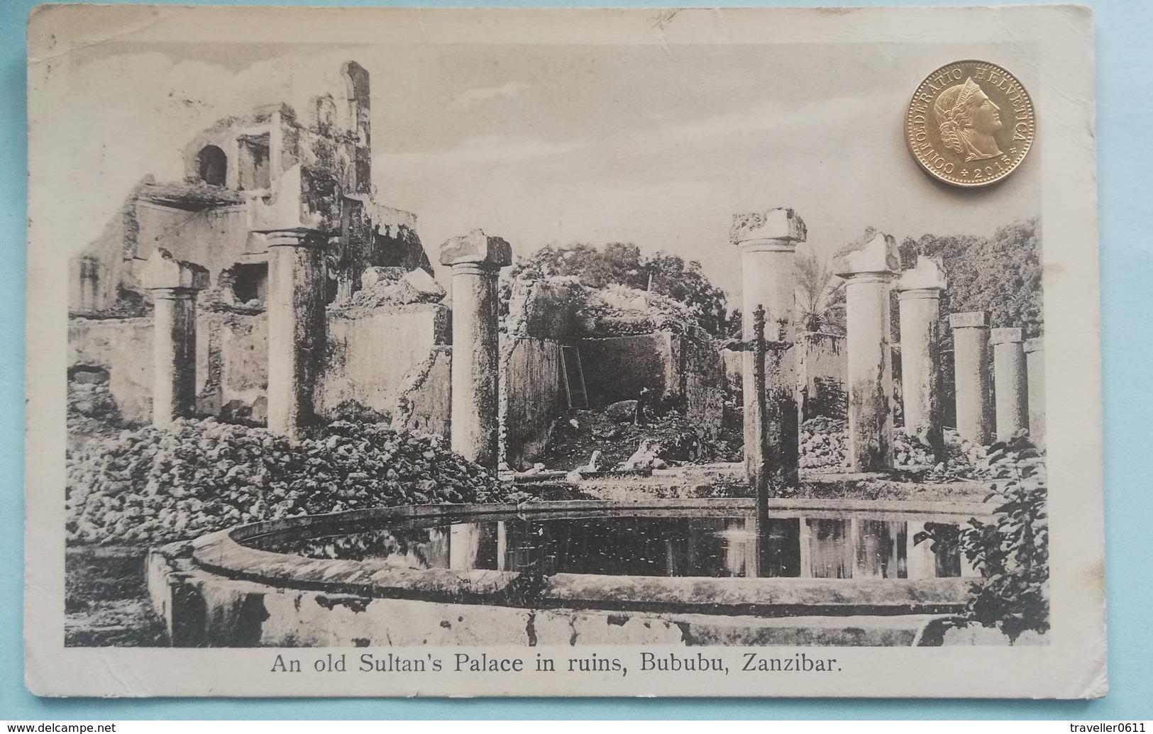 Zanzibar,Bububu, Sultan's Palace In Ruins, Sansibar, South Africa, 1913 - Tansania