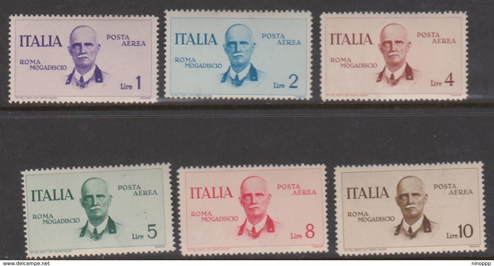 Italy PA 83-88 1934 First Flight Roma-Mogadiscio, Mint Hinged - Mint/hinged