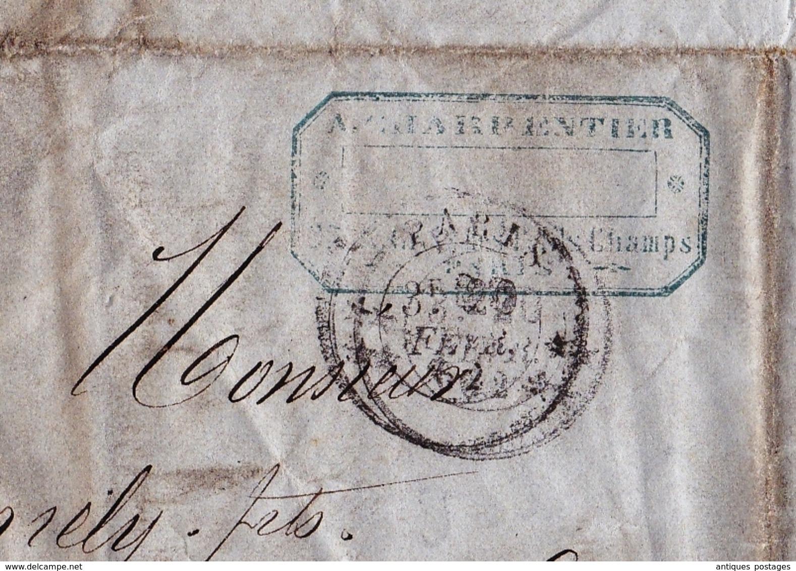 Lettre 1862 Maison E Meunier Charpentier Cuivre Cuivrerie Rue Croix Des Petits Champs Paris Commissaire De Police Nîmes - 1853-1860 Napoléon III
