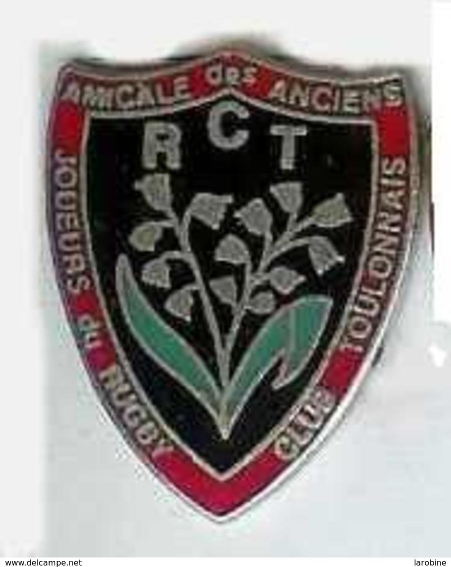 @@ Rugby Blason RCT Toulon Muguet Amicale Des Anciens  (2.5x2.3)  @@sp175a - Rugby