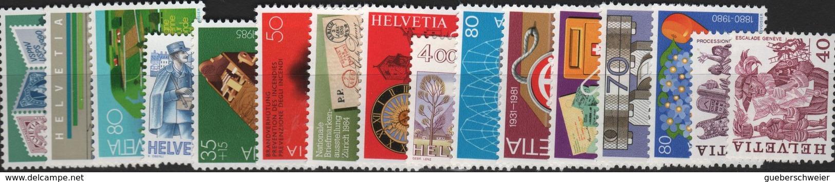 Lot De Timbres De Suisse Neufs** Avec Séries Complètes, Blocs De 4 Et Coins Datés à - 40% De La Faciale - Suisse