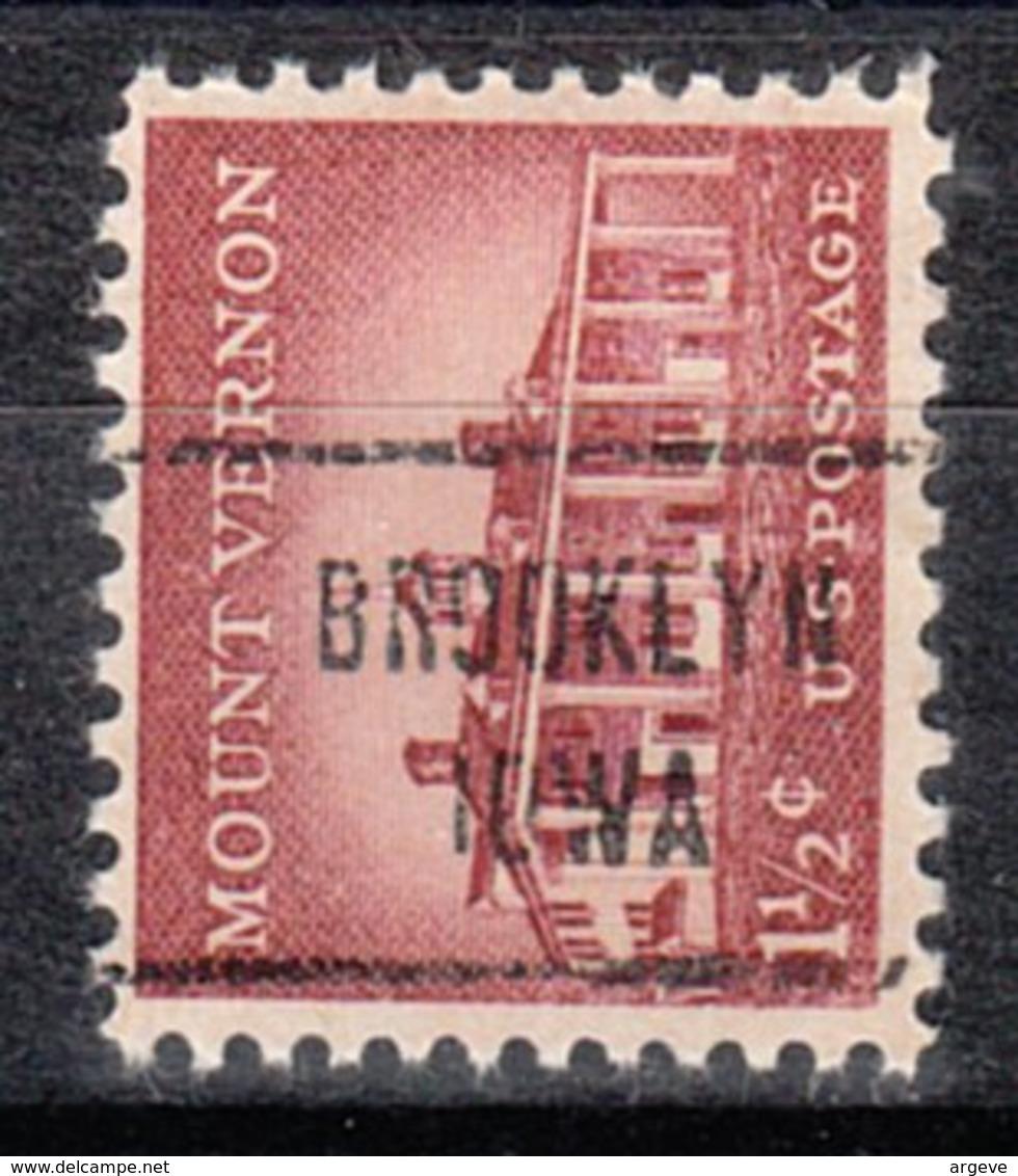 USA Precancel Vorausentwertung Preo, Locals Iowa, Brooklyn 721 - Vereinigte Staaten