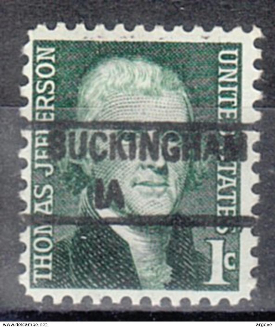 USA Precancel Vorausentwertung Preo, Locals Iowa, Buckinham 841 - Vereinigte Staaten
