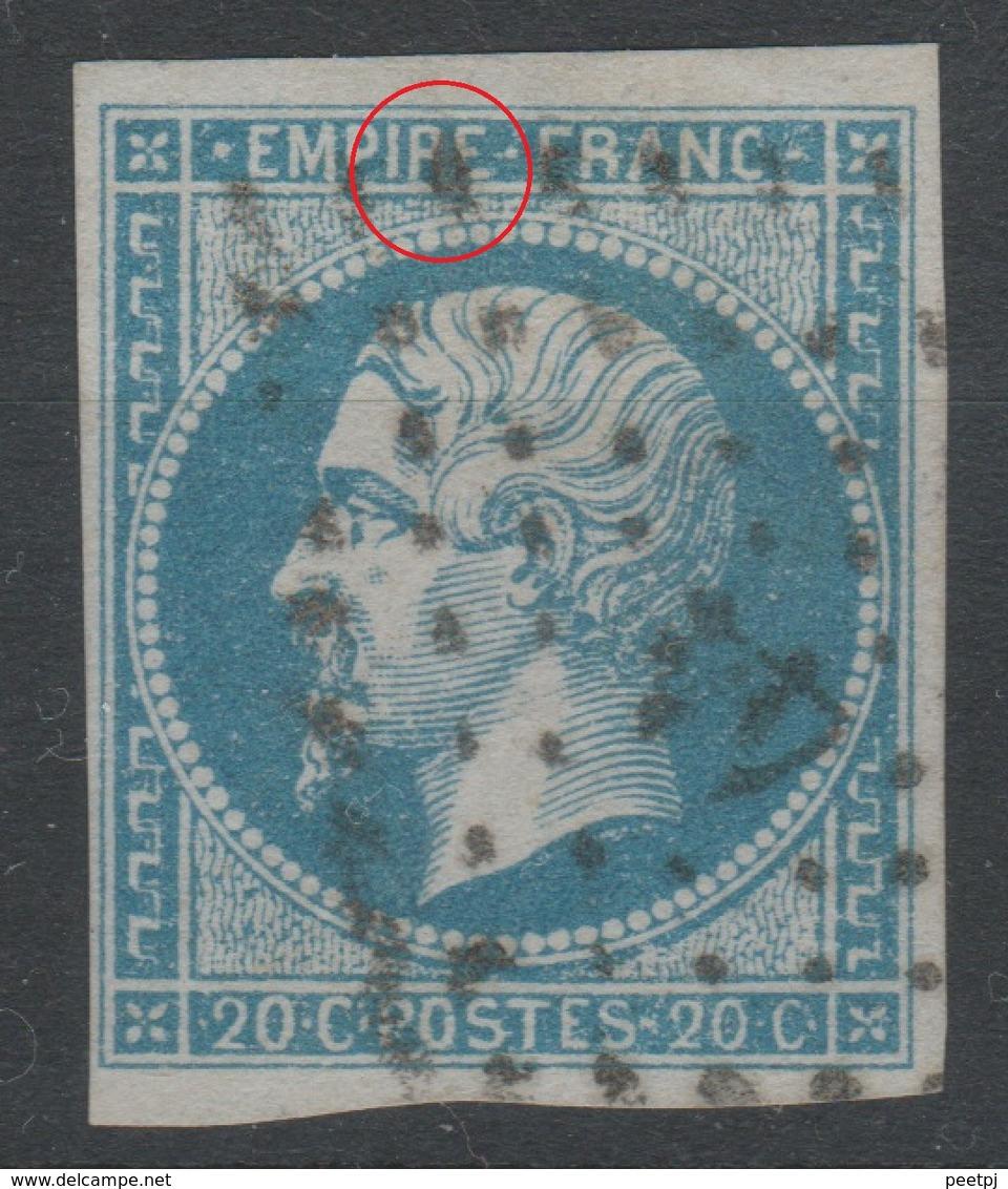 France - 1853 - Y&T 14Ba - Type II - Cachet 44 - ALBI - 1853-1860 Napoléon III