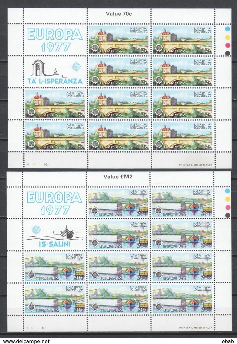 Malta 1977 Kleinbogen Mi 554-555 MNH CEPT EUROPA - Europa-CEPT