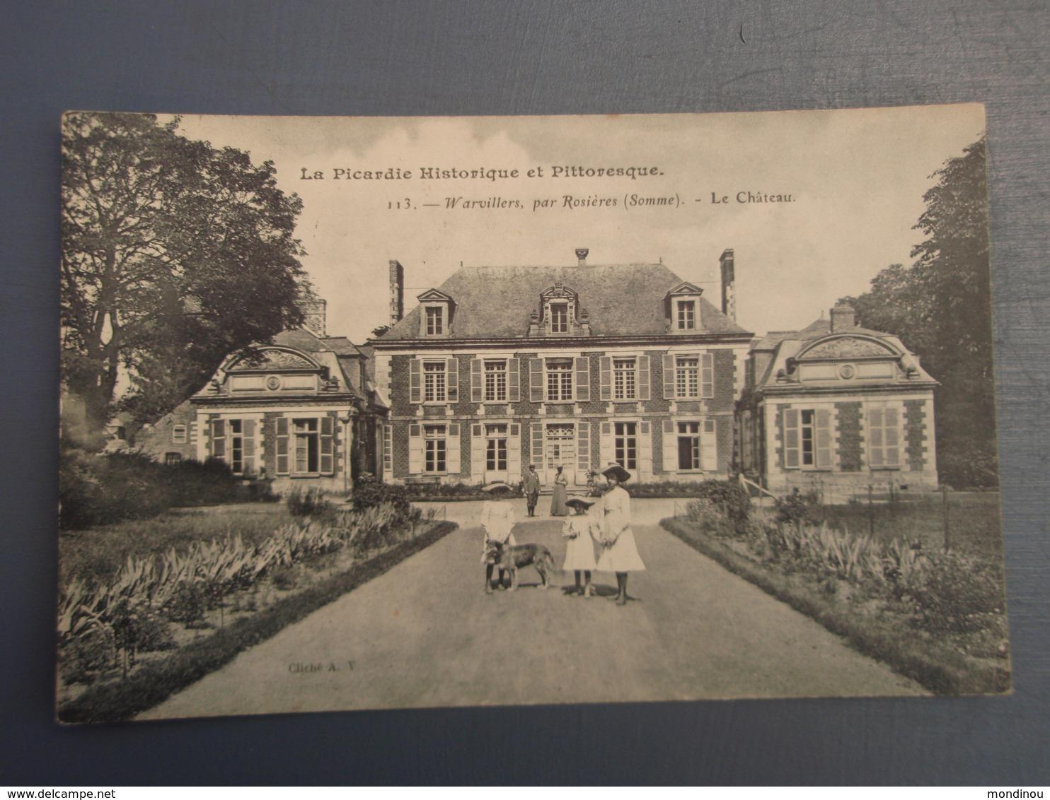 Cpa Warvillers, Par Rosières Le Château. 1907 - Francia