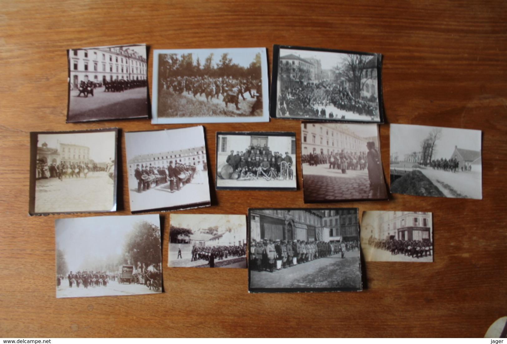 Lot De Photos De Clique Regimentaire 1890 1915 - Guerra, Militares