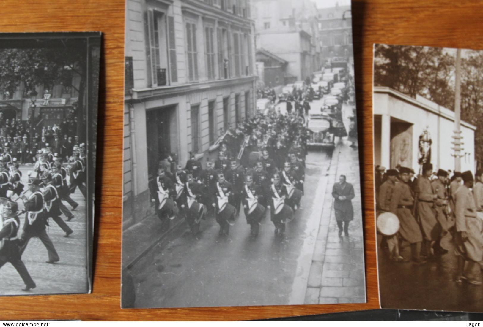 Lot De Photos De  Musique Militaire  Lot 1r - Guerra, Militares