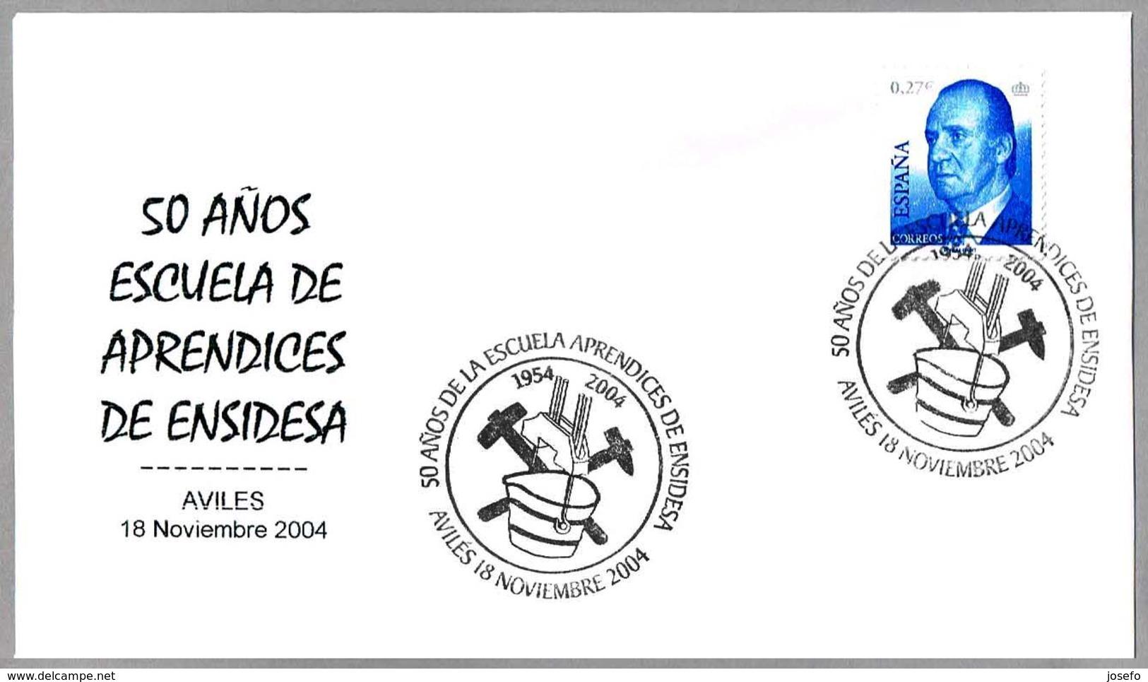50 Años Escuelas De Aprendices De ENSIDESA - FUNDICION - FOUNDRY. Aviles, Asturias, 2004 - Fábricas Y Industrias
