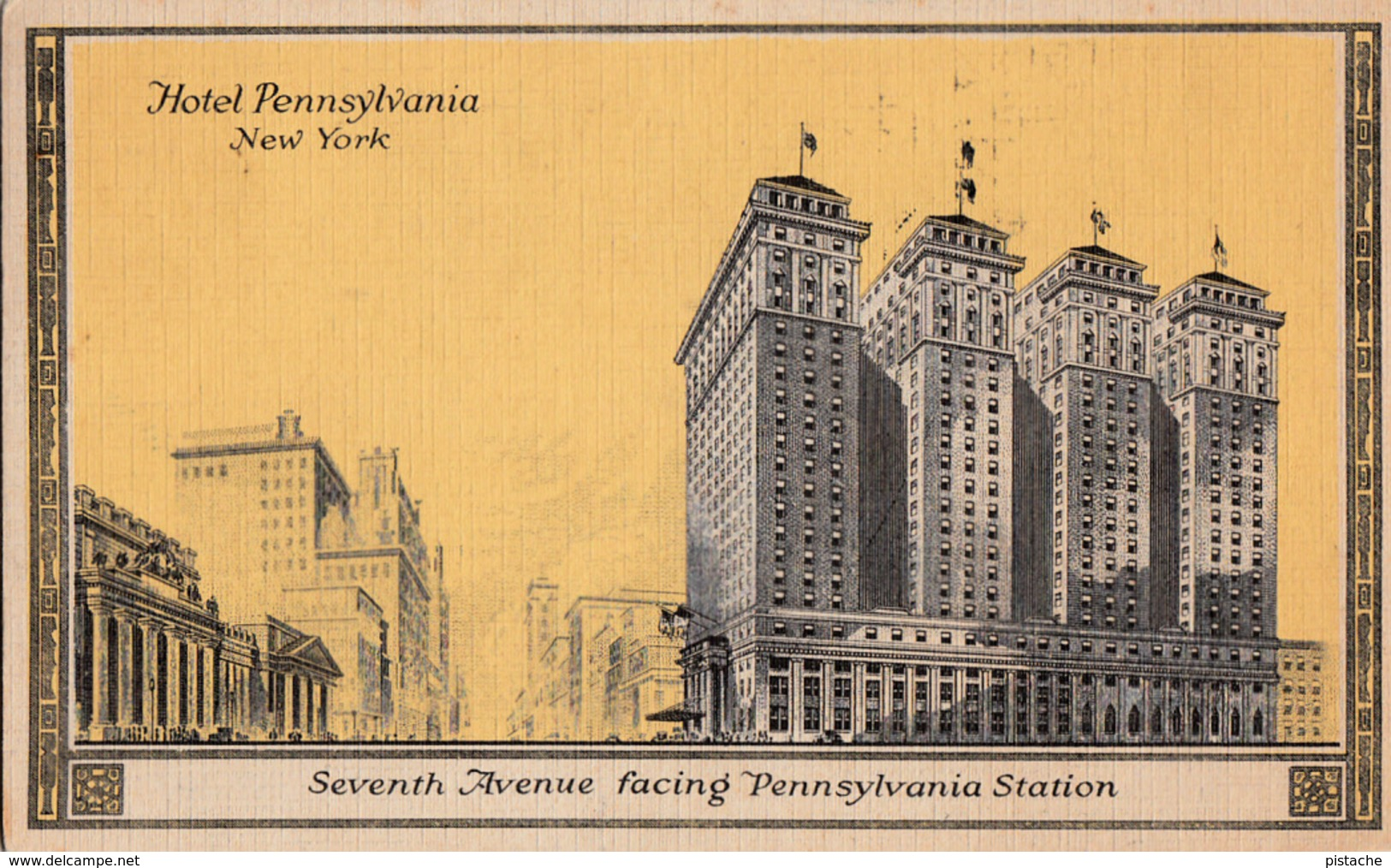 New York City - Manhattan - Hotel Pennsylvania Facing Station - Simple Back - Size 5 X 3 - Written 1940 - 2 Scans - Manhattan