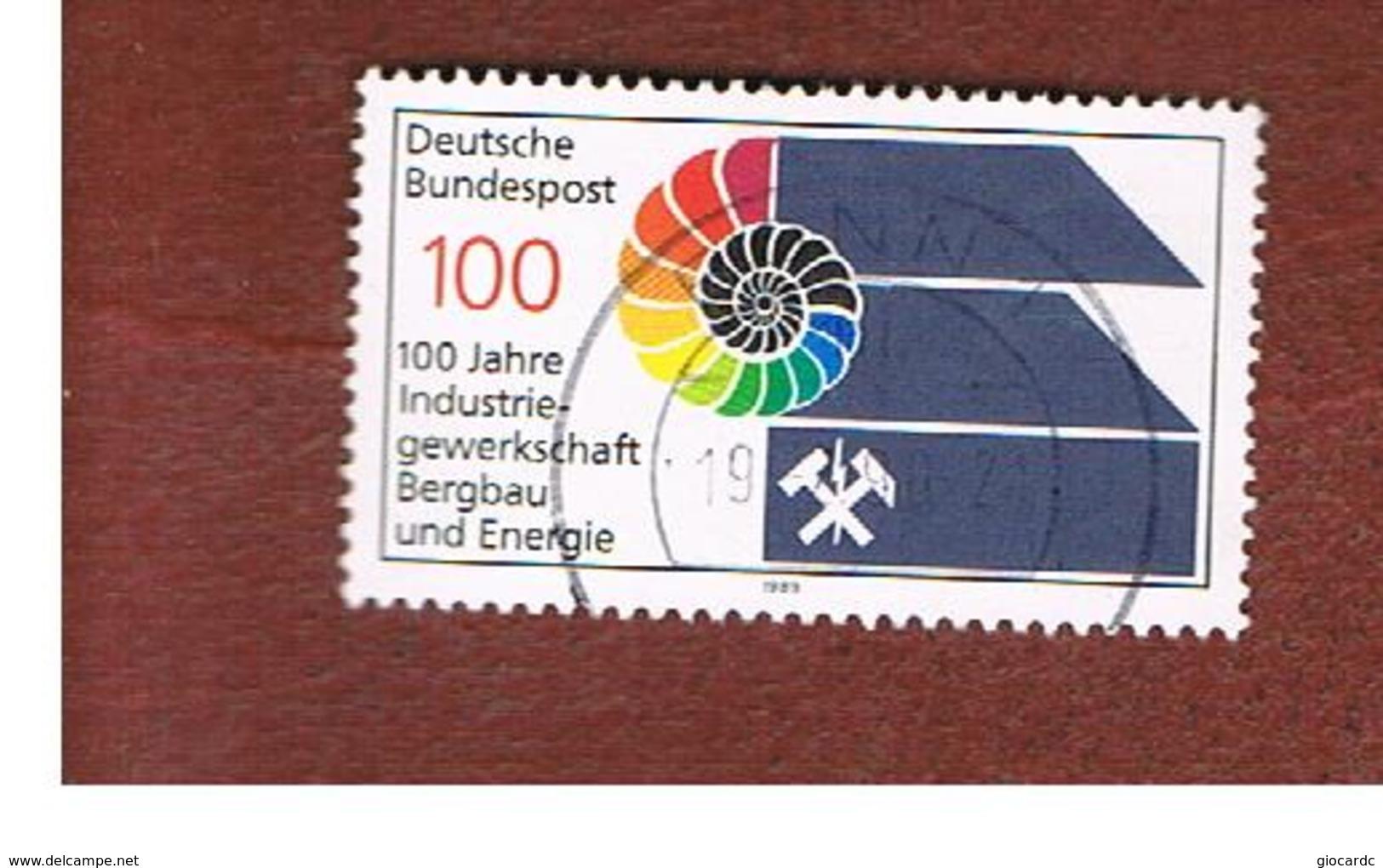 GERMANIA (GERMANY) - SG 2288  - 1989 MINERS TRADE UNION  - USED - [7] République Fédérale