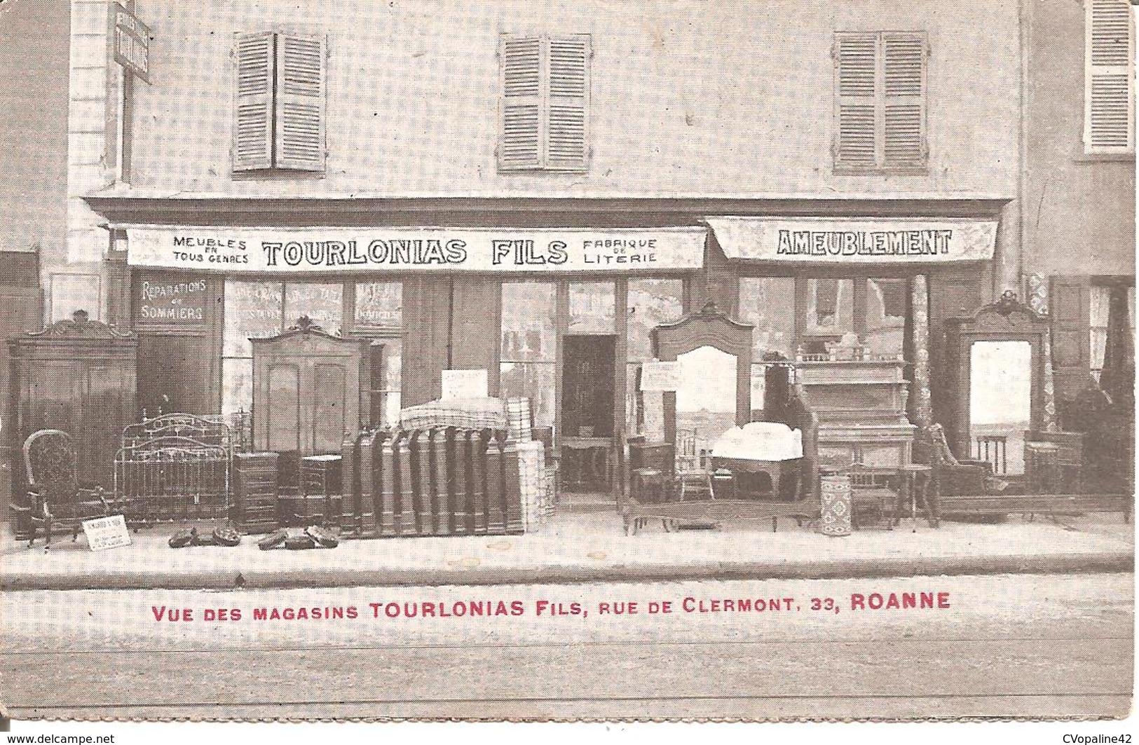 ROANNE (42) Vue Des Magasins TOURLONIAS Fils , 33 , Rue De Clermont - Roanne