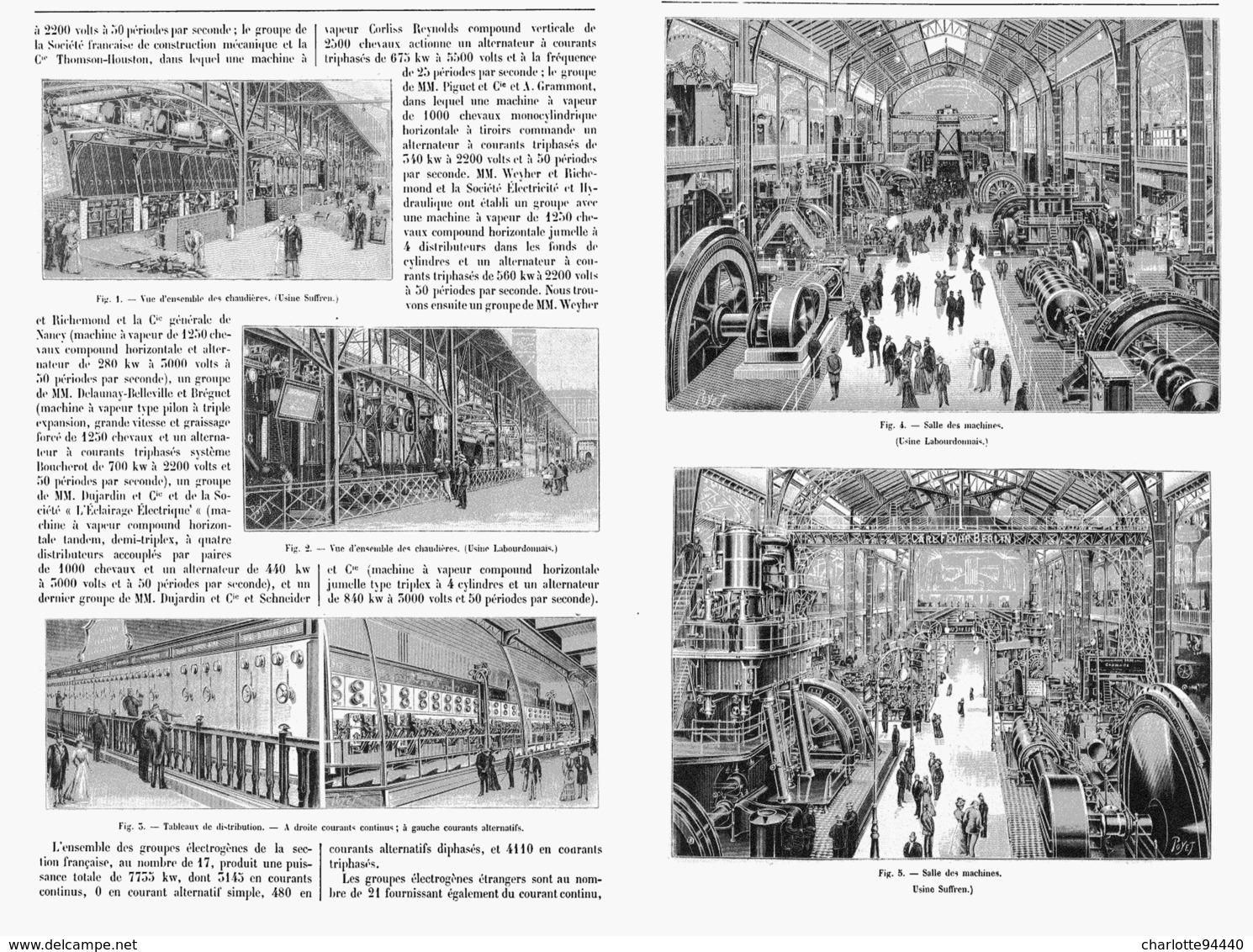 LA DISTRIBUTION De L'ENERGIE ELECTRIQUE  à L'EXPOSITION UNIVERSELLE DE  1900 - Technical