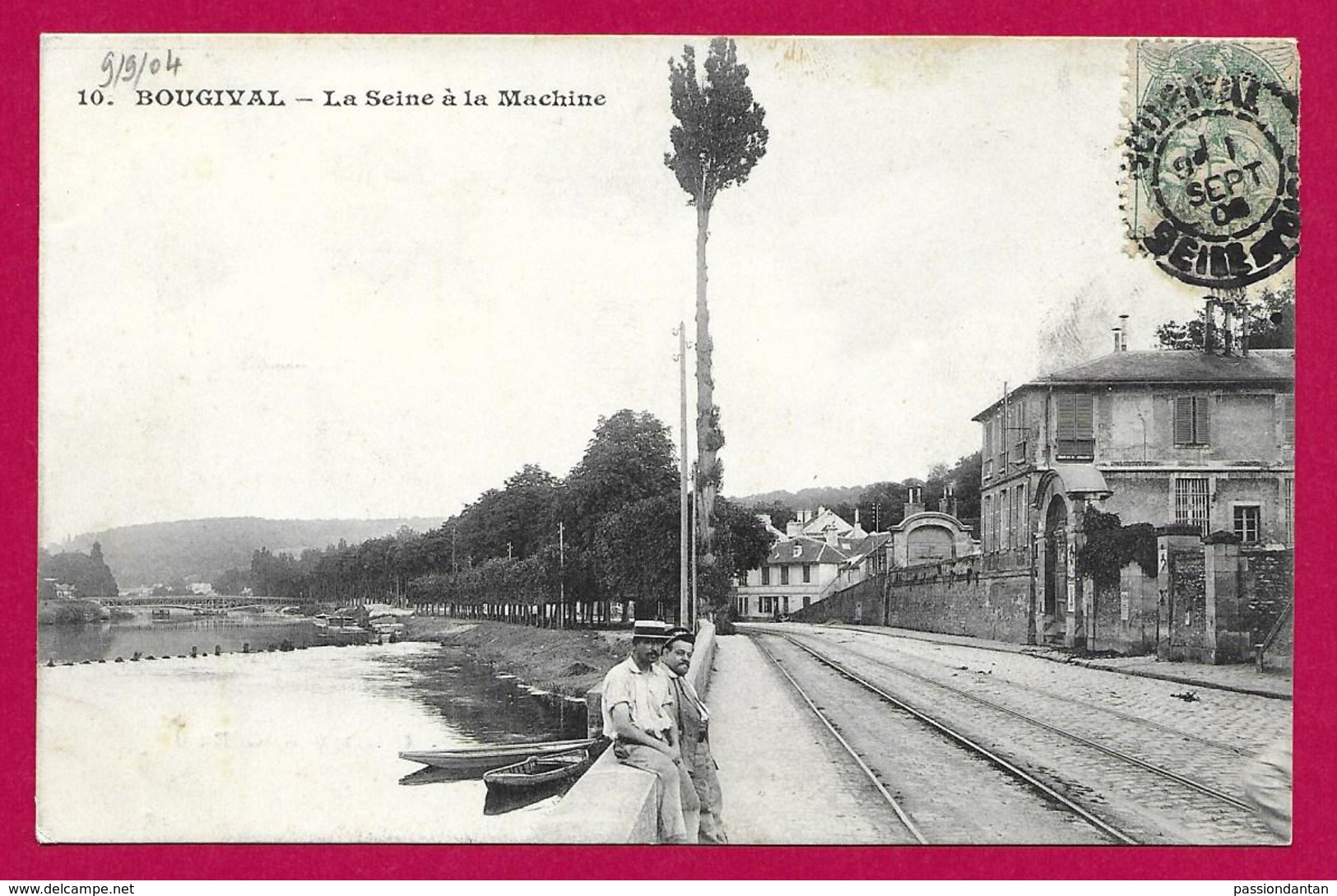 CPA Bougival - La Seine à La Machine - Bougival