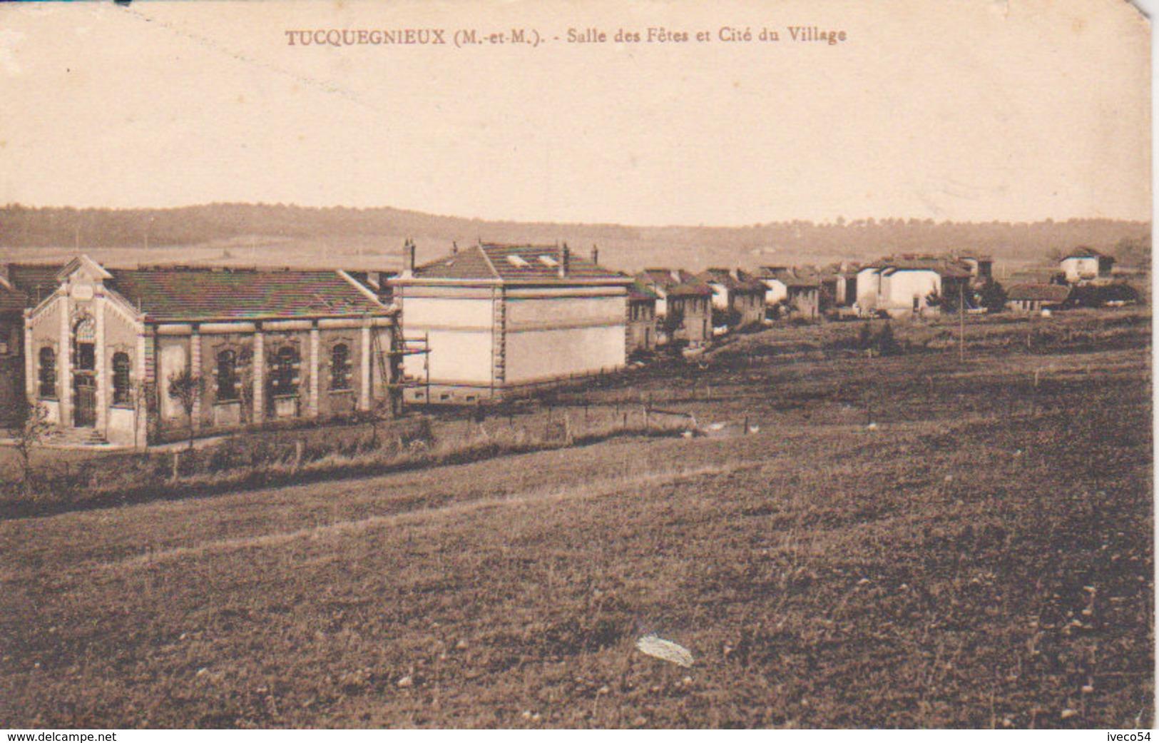 """54 - Tucquegnieux  """"Salle Des Fêtes Et Cité Du Village   """" - Briey"""