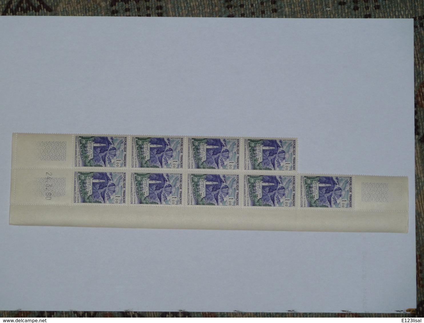 Bloc 9 Timbres YT N° 1241 Coin Daté 24 3 60 - 1960-1969