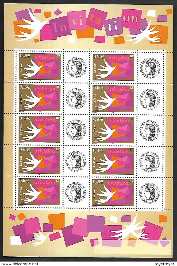 P179  Feuillet De 10 Timbres N°3479A N++ Person. Cérès - Personalisiert