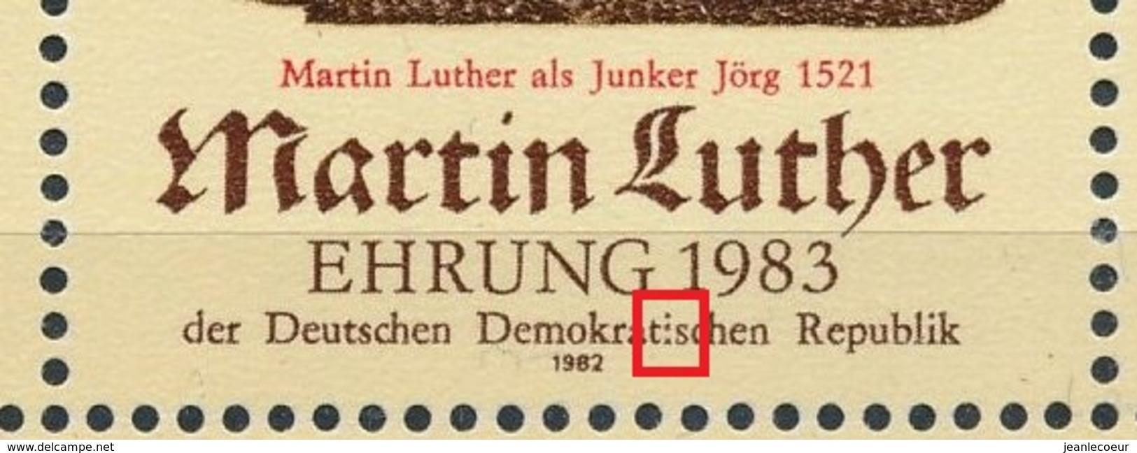 DDR/East Germany/Allemagne Orientale 1982 Mi: Klb 2755 + 2755 II (PF/MNH/Neuf Sans Ch/nuovo Senza C./**)(4492) - [6] Oost-Duitsland