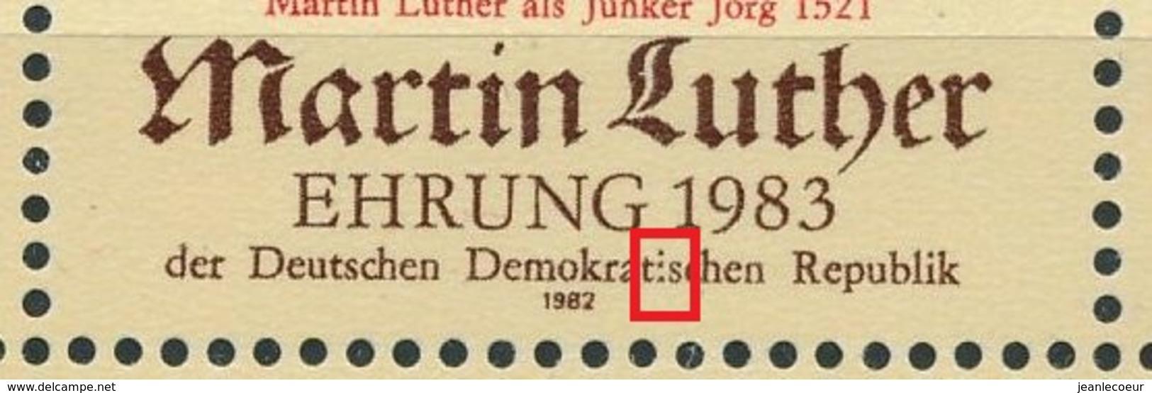 DDR/East Germany/Allemagne Orientale 1982 Mi: Klb 2755 + 2755 II (Gebr/used/obl/usato/o)(4493) - [6] Oost-Duitsland