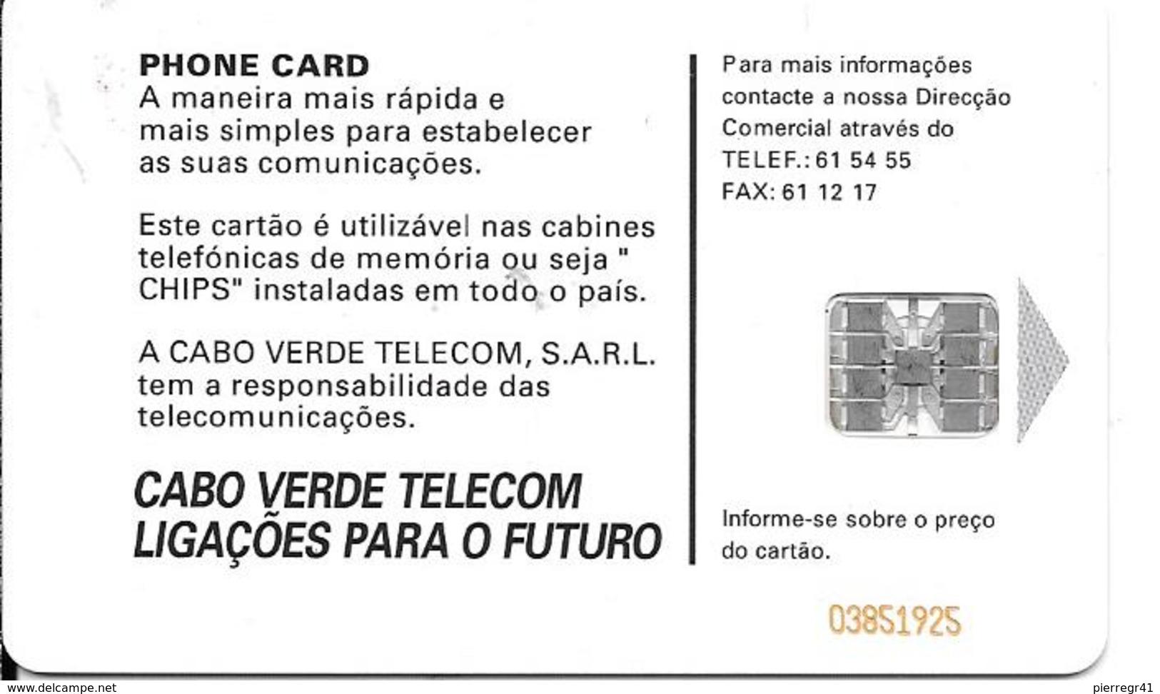 CARTE-PUCE-CAP-VERT-50U.T-SC7-Schlum-2001-DANSEUR-UTILISE-TBE - Cap Vert