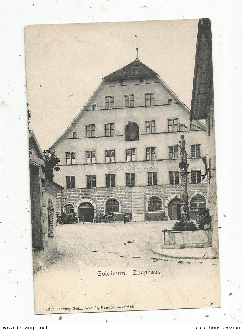 Cp, SUISSE ,  SO ,  SOLOTHURN , Zeughaus,  Dos Simple ,  Vierge, Union Postale Universelle - SO Soleure