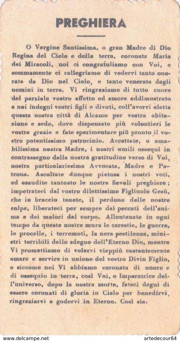 Santino Fustellato Maria Ss.dei Miracoli - Patrona Di Alcamo - Imágenes Religiosas