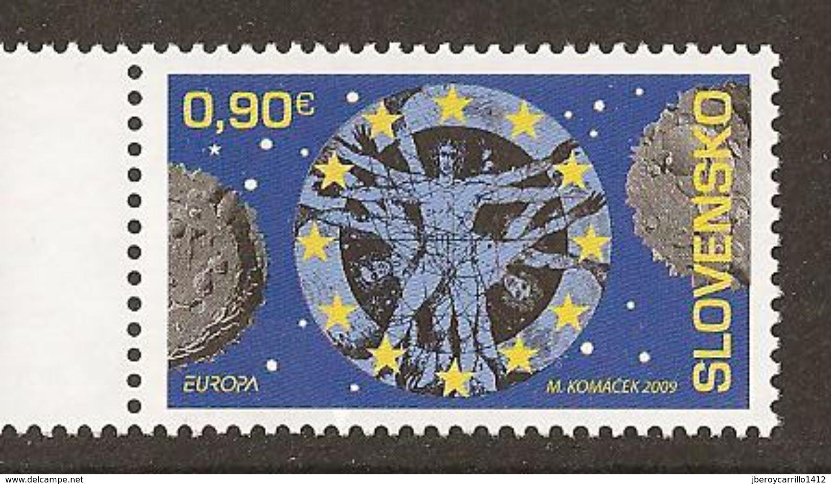 "ESLOVAQUIA /SLOVAKIA /SLOWAKEI - EUROPA 2009 -  TEMA ANUAL ""ASTRONOMIA"" - SERIE De 1 V. - 2009"