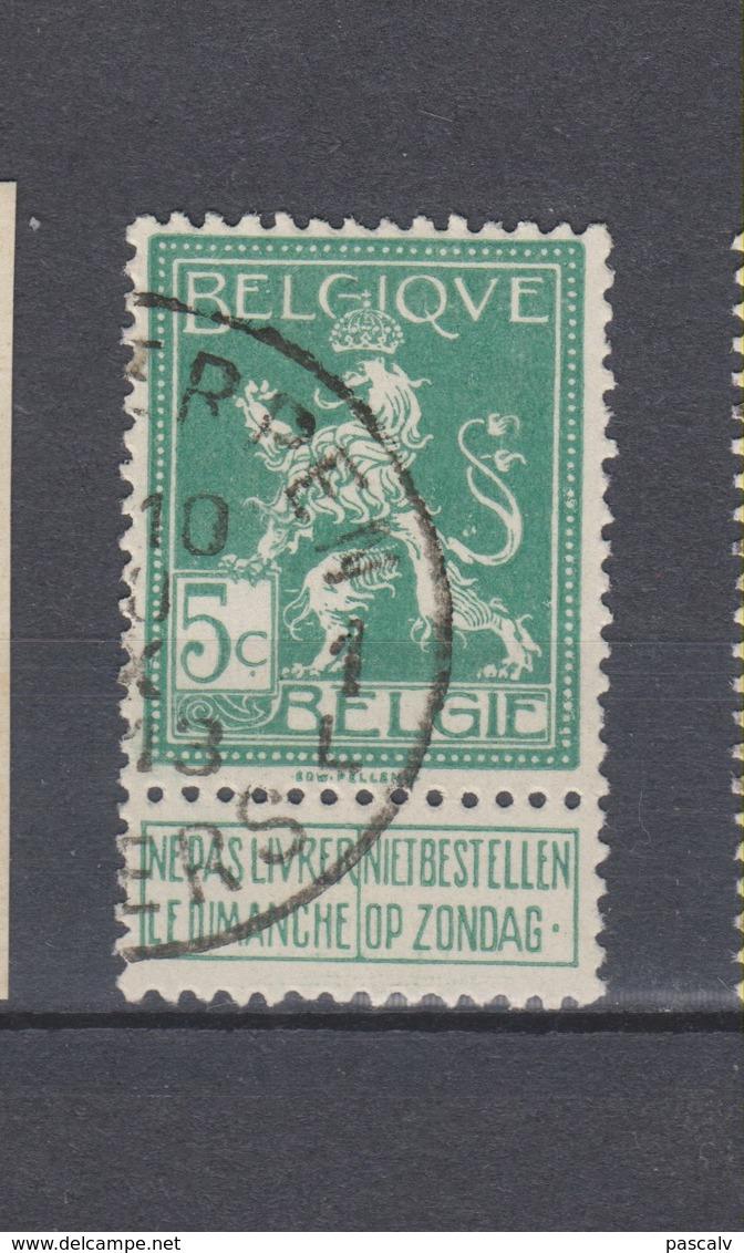 COB 110 Oblitération Centrale ANTWERPEN 1L - 1912 Pellens