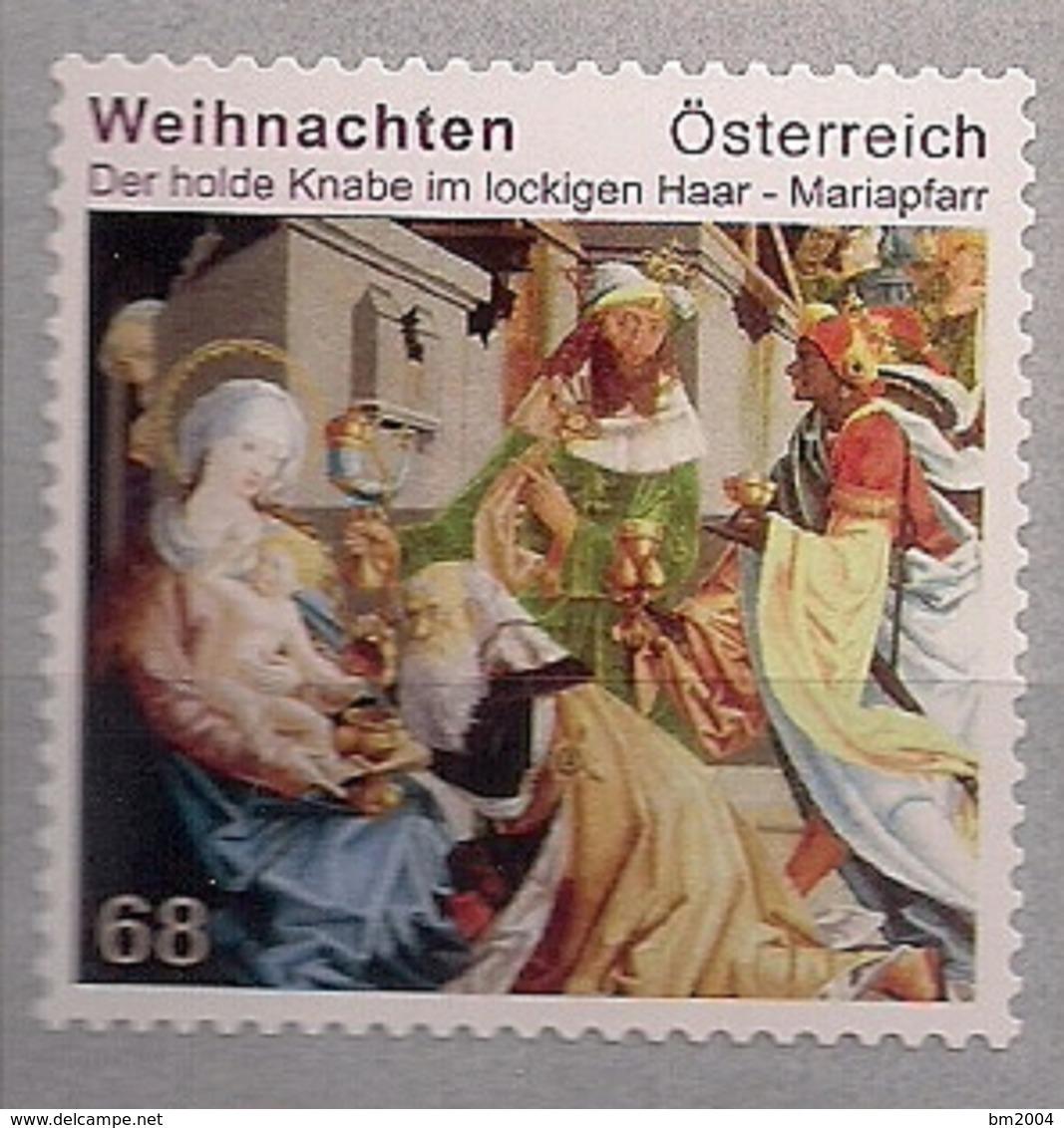 2016 Austria Mi. 3305**MNH   Weihnachten  Der Holde Knabe Im Lockigen Haar; Altarbild - 1945-.... 2ª República