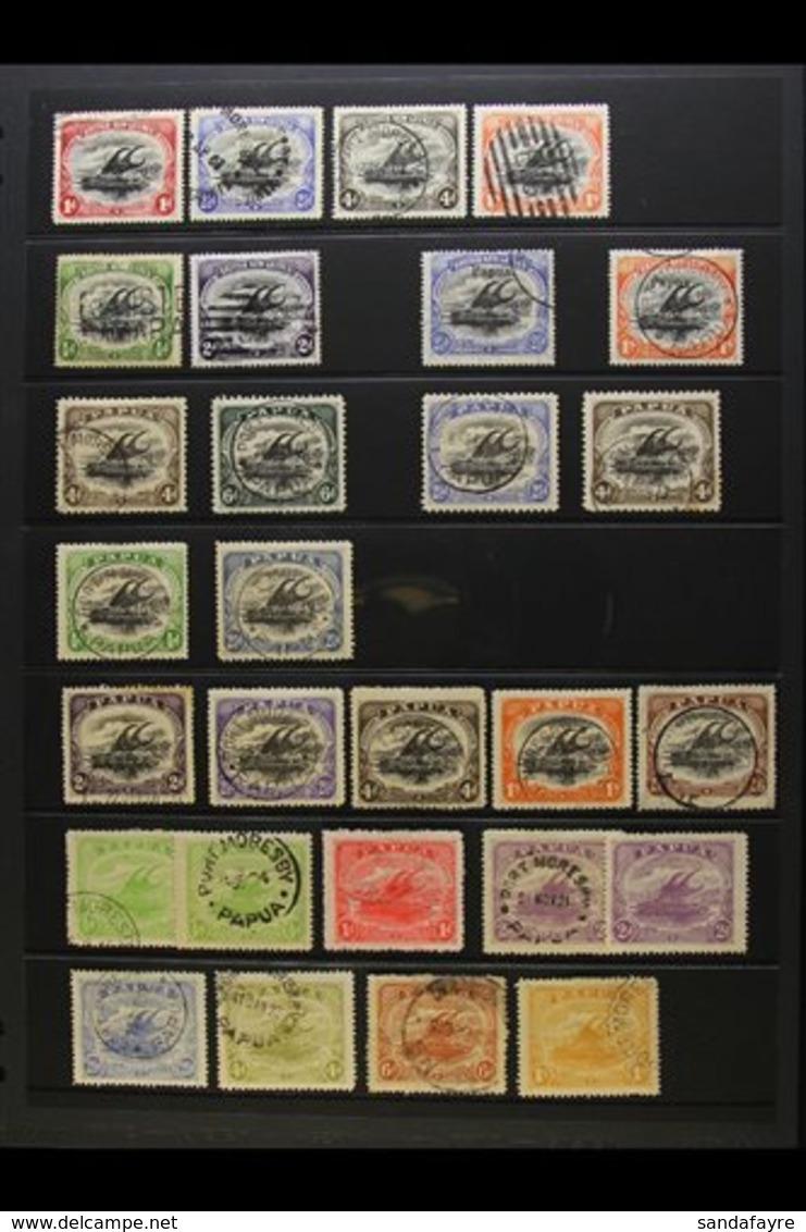 1901 - 1932 USED LAKATOI SELECTION Useful Range Including 1901 Wmk Horizontal Values To 1s Black And Orange, Wmk Vertica - Papua New Guinea