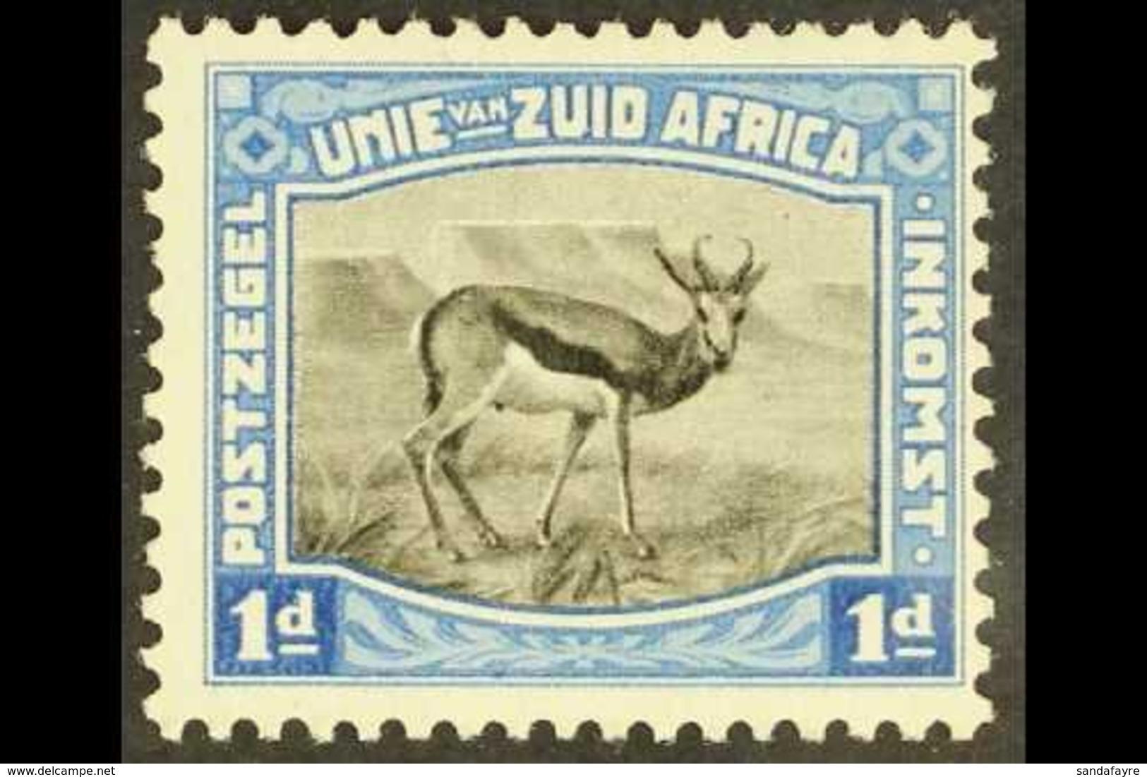 ESSAY 1923 1d Black & Blue, Harrison Essay, Screened, Very Fine Mint. For More Images, Please Visit Http://www.sandafay - Zuid-Afrika (...-1961)