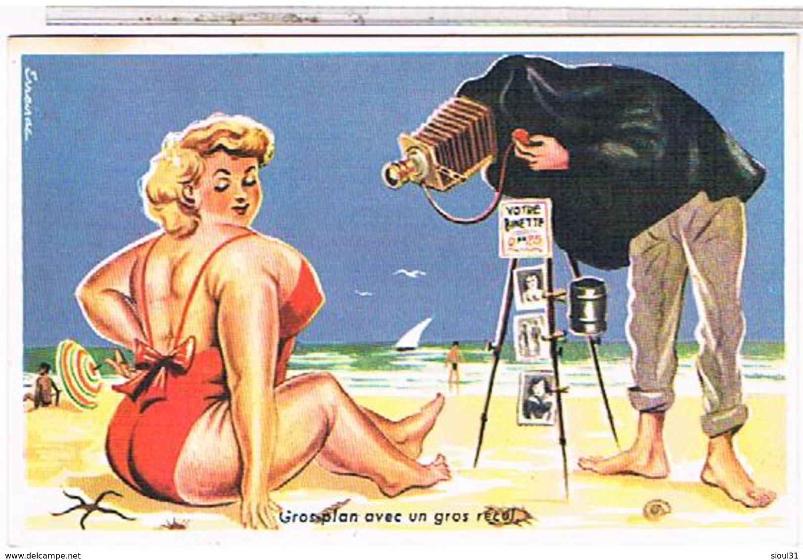 ILLUSTRATEUR  LOUIS CARRIERE  Pin Up 9x14 GROS   PLAN  AVEC  UN  GROS  RECUL   N°750   CPM  TBE - Carrière, Louis