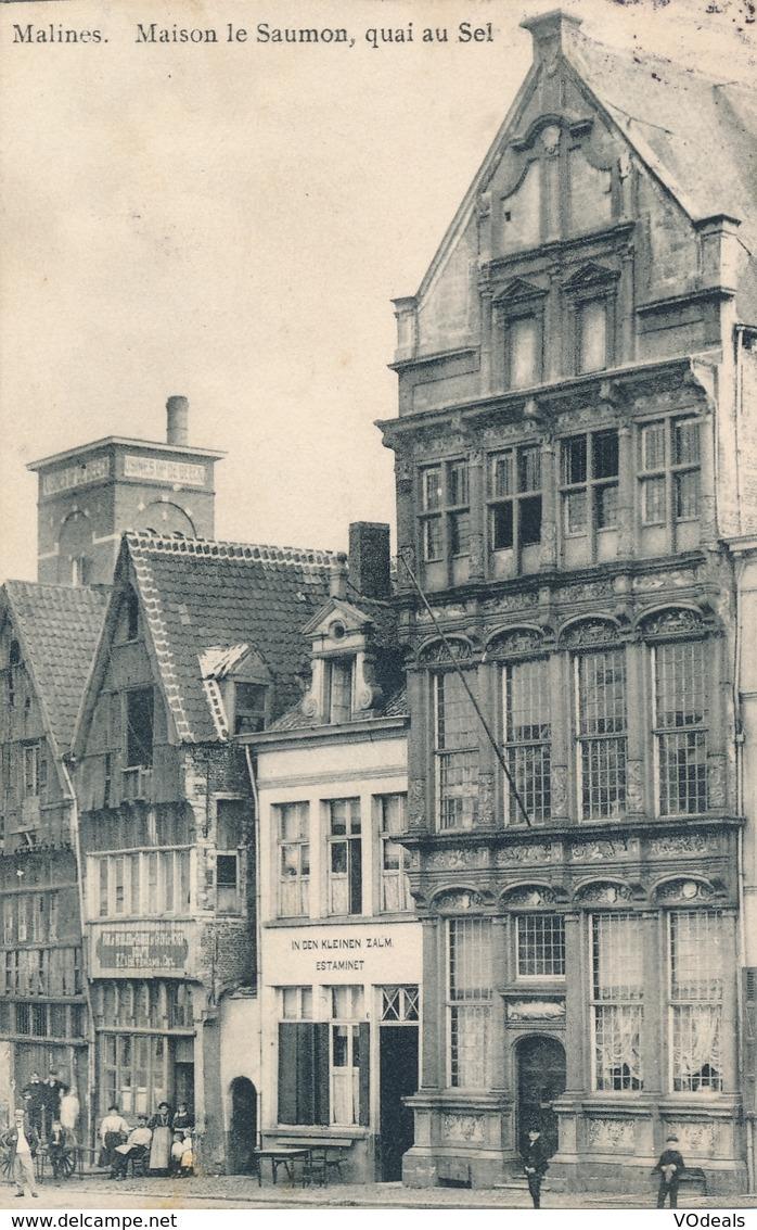 CPA - Belgique - Malines - Maison Le Saumon, Quai Au Sel - Malines