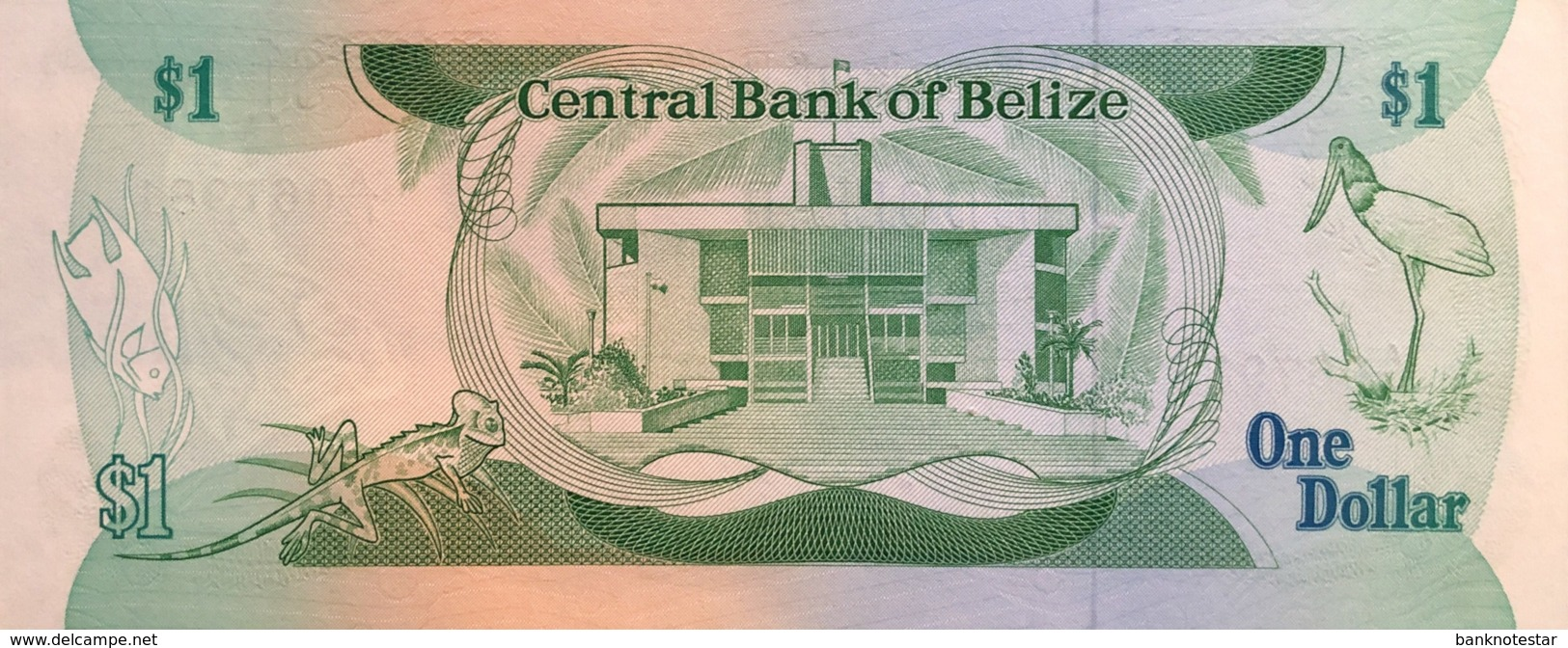 Belize 1 Dollar, P-46c (1.1.1987) - UNC - Belize